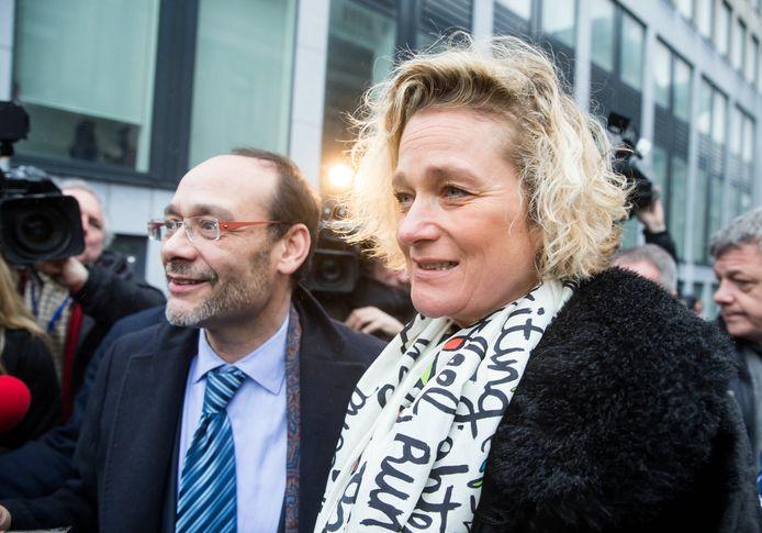 Delphine Boël (rechts).
