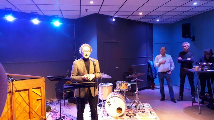 Ton Rombouts in de Jazzwerkplaats bij de start van muziekschool 3.0.