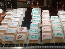 Vianese bakker brengt verkiezingen onder de aandacht met taartjes
