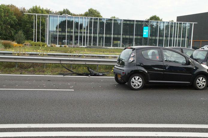 Ongeval met vier auto's op A59 bij Vlijmen.