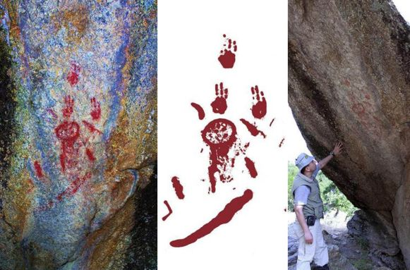 De rotstekeningen waren al bekend bij de lokale bevolking, maar nog niet wetenschappelijk onderzocht.