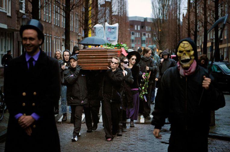 Een demonstratie van kraakgroep De Pijp. Foto ANP/Erik van 't Woud Beeld