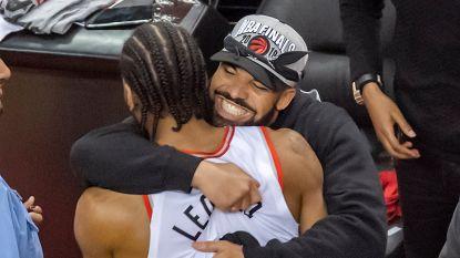 Feest in Toronto: Raptors voor het eerst naar NBA-finale, Drake en Pozuelo vieren mee