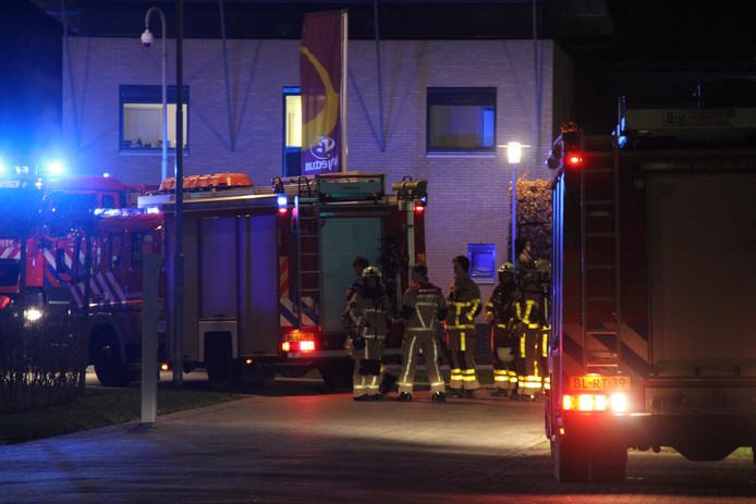 De brandweer bij Trajectum Berkelland.