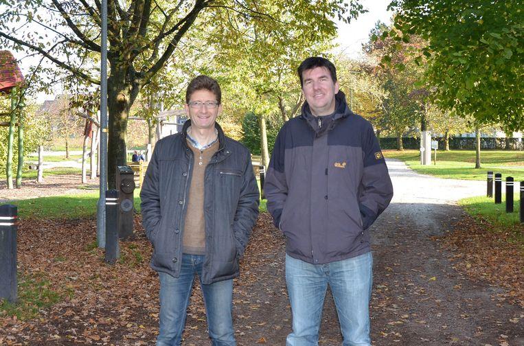 Luc De Ridder en Lennart D'Hulst in het Hof Ten Hemelrijk.