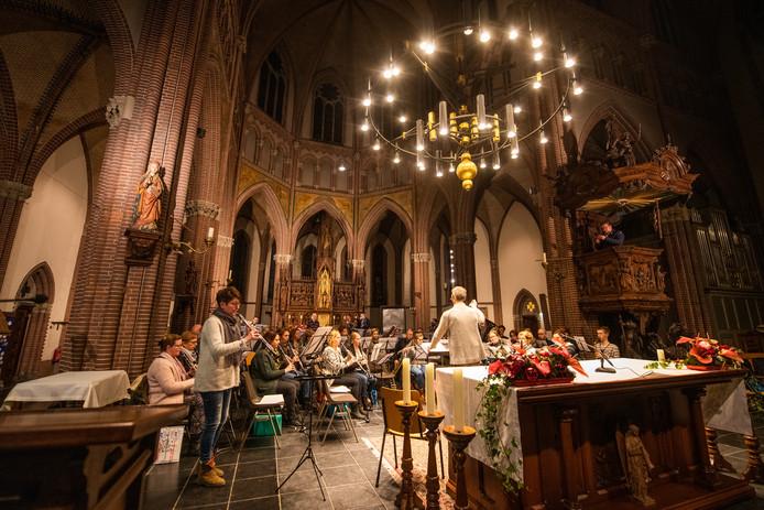 Repetitie harmonie St. Cecilia Asten