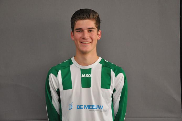 Joris Swaanen maakte de 0-2 voor Oirschot Vooruit, dat alsnog met 3-2 verloor van HVCH