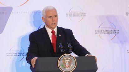 """Amerikaans vicepresident Pence roept EU op om ook uit nucleair akkoord met Iran te stappen: """"Regime bereidt nieuwe Holocaust voor"""""""