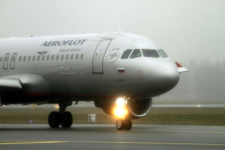 Foto ter illustratie: een toestel van Aeroflot.  Beeld EPA