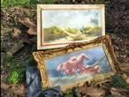 Wijkagent vindt 'prachtige stukken' die gedumpt zijn in Hoogerheidese natuur