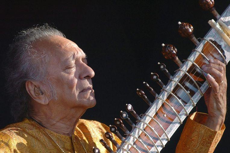 Tijdens een concert in Zwitserland in 2005. Beeld epa