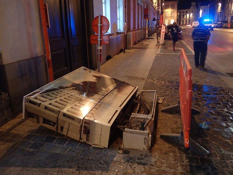 Het ongeval gebeurde op het Keizersplein in Aalst.