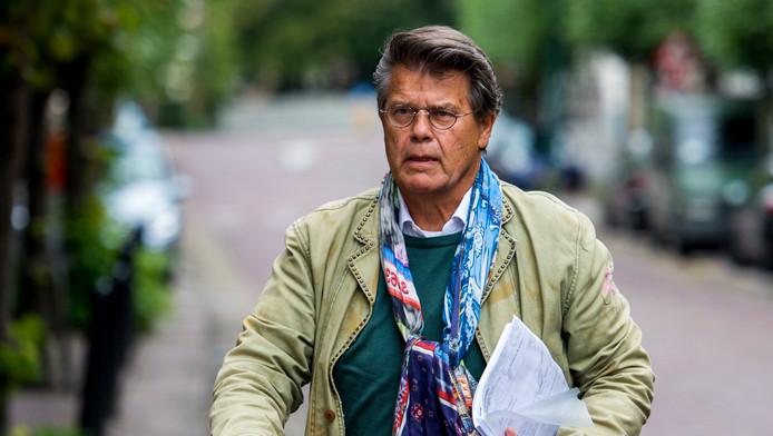 Emile Ratelband arriveert in september vorig jaar bij de rechtbank