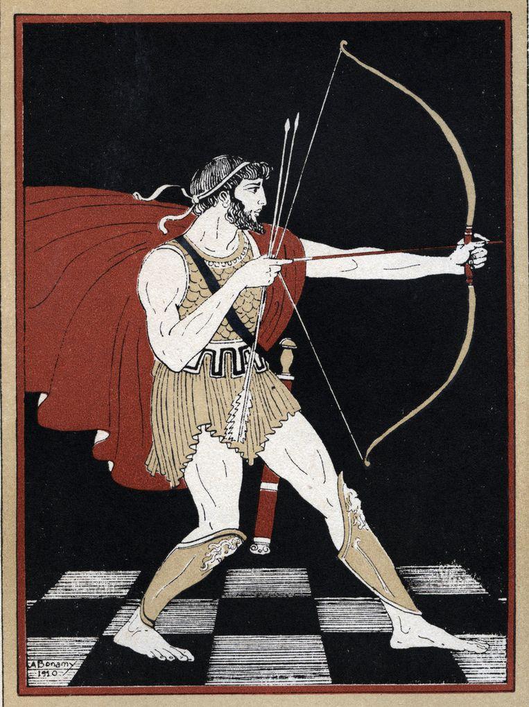 Odysseus. Illustratie van A. Bonamy in Le retour d'Ulysse van Coissac. Beeld Isadora / Leemage / Hollandse Hoogte