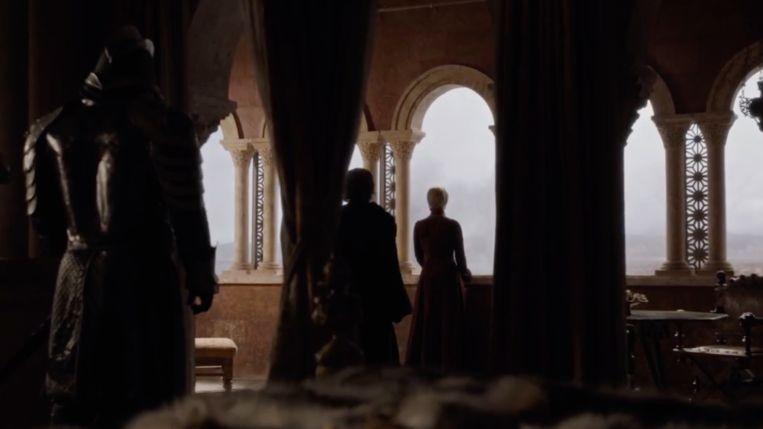 Cersei blijft volhouden, al ziet ze het gebeuren.
