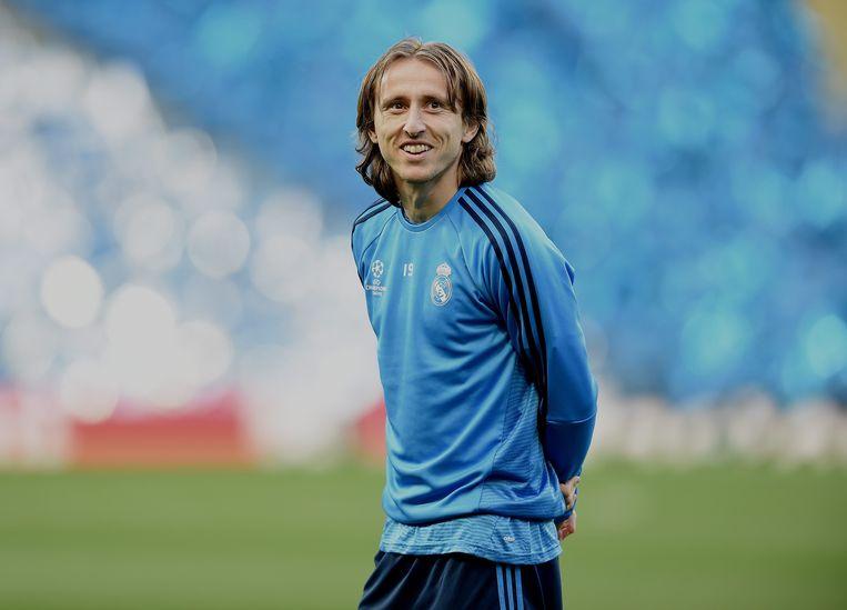 Luka Modric, de draaischijf van Real Madrid, is de absolute sterspeler van de Kroaten