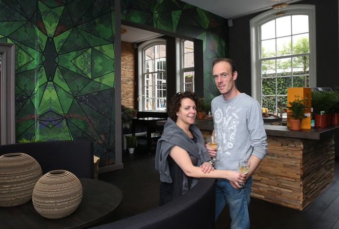Peter en Jacqueline in restaurant 't Schulten Hues in Zutphen.