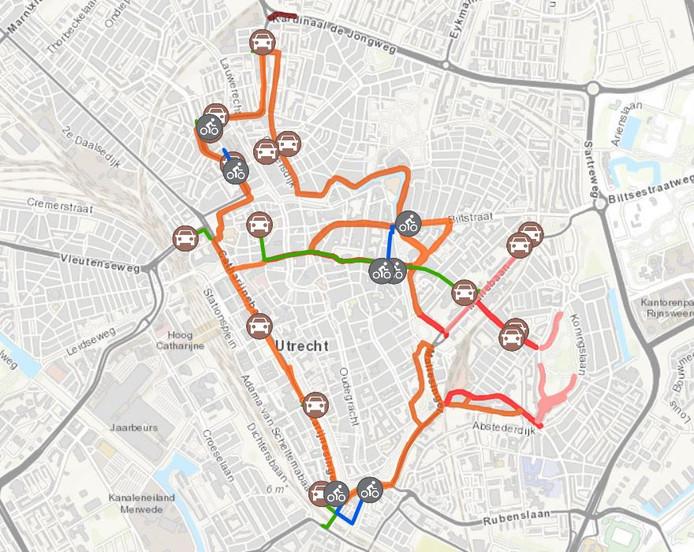 Kaart Singelloop Utrecht
