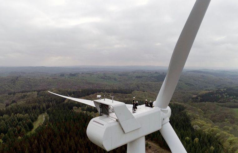 Een windmolen.
