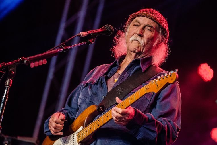 David Crosby op de eerste editie van het Americana festival Once In A Blue Moon. Beeld Ben Houdijk