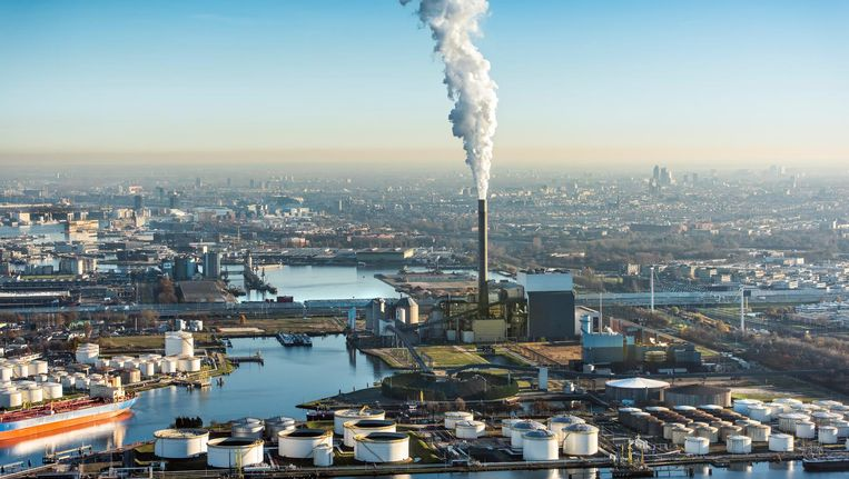 Het Amsterdamse havengebied Beeld ANP