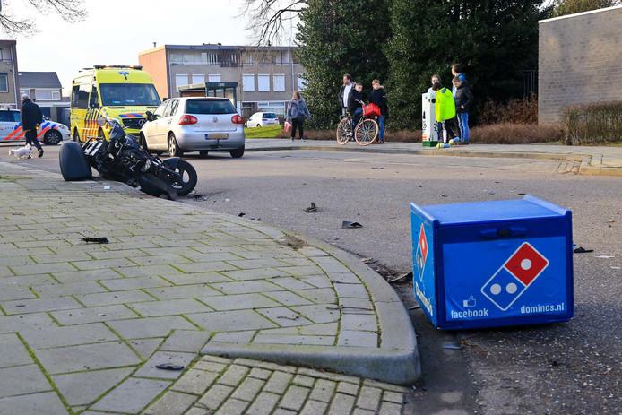 De pizzabezorger was onderweg naar een klant.