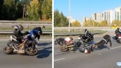 Motorrijder doet inhaalmanoeuvre, maar dat loopt fout af