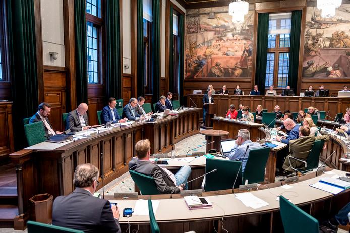 Begrotingsdebatten op Stadhuis Rotterdam.