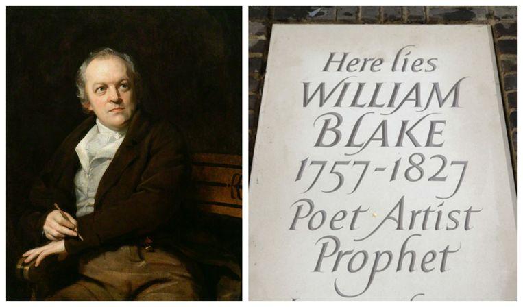 Een gloednieuwe grafsteen voor het graf van bekende Britse dichter William Blake (1757 - 1827), dat opgespoord werd door twee van zijn liefhebbers.