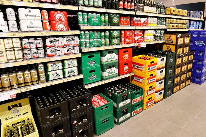 De schappen met alcohol zullen na 20.00 uur grotendeels onaangetast blijven.