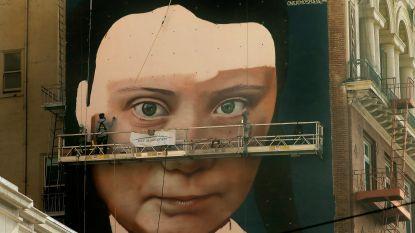 Tot spijt van wie het benijdt: Greta Thunberg krijgt gigantische muurschildering in San Francisco