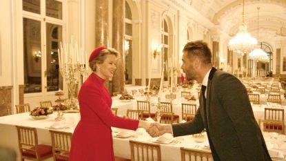 """Kobe Ilsen over zijn ontmoeting met koningin Mathilde in 'Over Eten': """"Ik mocht geen vragen stellen"""""""