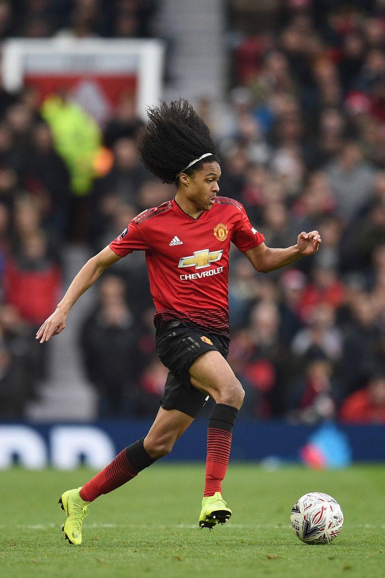 Tahith Chong (19) speelt bij Manchester United.  Beeld AFP