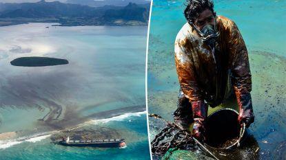 Paradijselijk eiland Mauritius vreest ecologische ramp nadat vrachtschip lek slaat voor kust