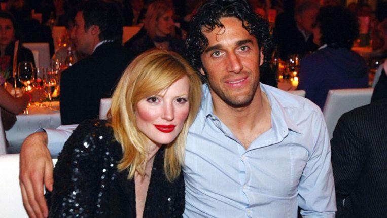 Luca Toni en zijn vriendin Marta Cecchetto. Beeld AFP
