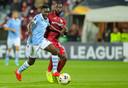 Bobby Adekanye tijdens een Europa League-duel voor Lazio Roma.