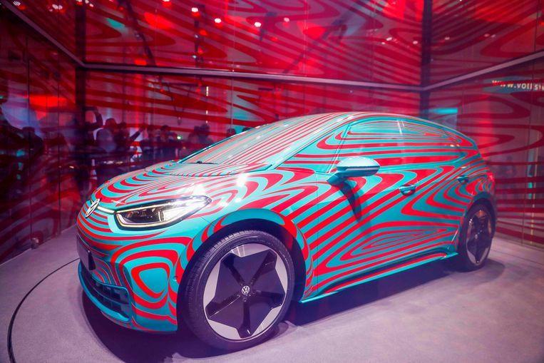 De volledig elektrische Volkswagen ID 3 moet het merk van zijn roetige imago afhelpen. Beeld AFP