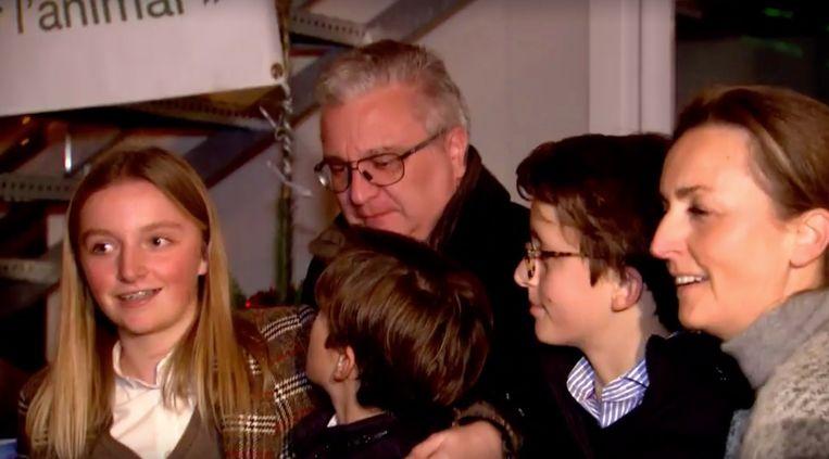 Prins Laurent en zijn gezin.