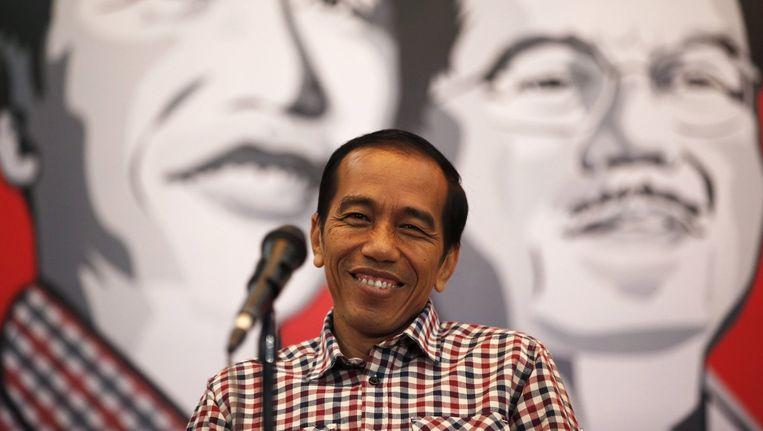 De Indonesische presidentskandidaat Joko Widodo. Beeld null
