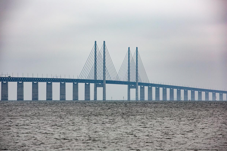 De Sontbrug tussen Malmö en Kopenhagen.