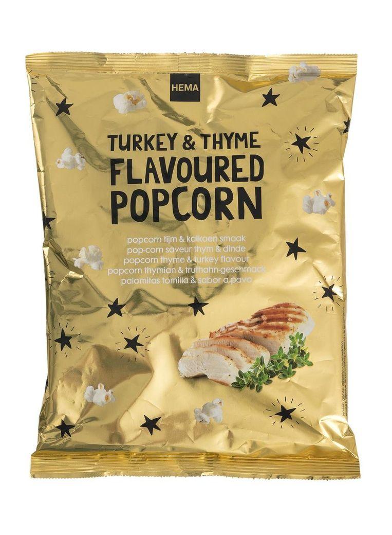 Popcorn met kalkoensmaak Beeld