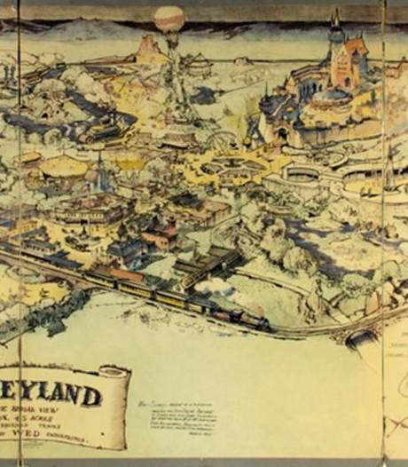 Oude plattegrond Disneyland levert ruim zes ton op