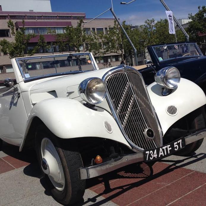 De auto van de president van de club, Jean-Louis Poussard
