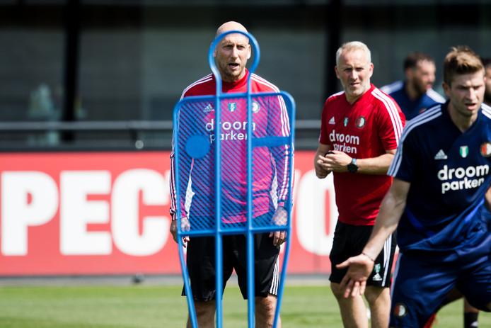 Jaap Stam op de eerste Feyenoord-training.