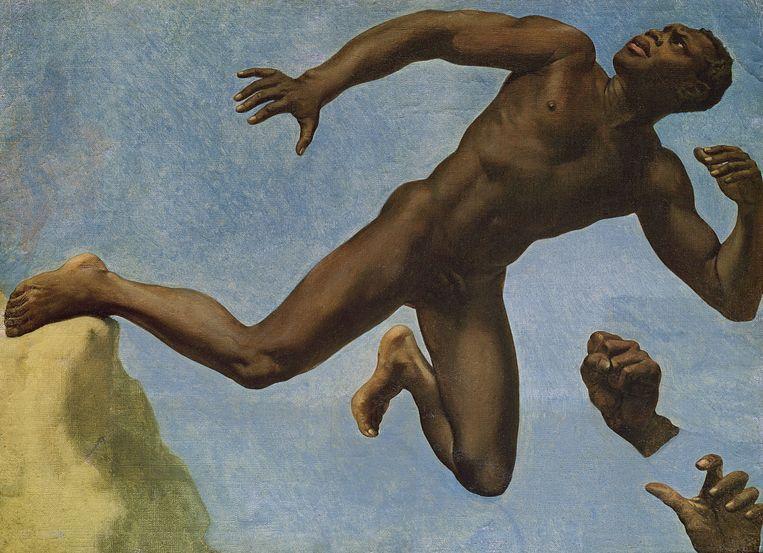 Théodore Chassériau, Studie naar het model Joseph (voorheen: Studie naar een zwarte), 1839, Musée Ingres Montauban. Beeld Musee Ingres