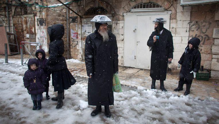 Orthodoxe joden in Jeruzalem Beeld Getty Images