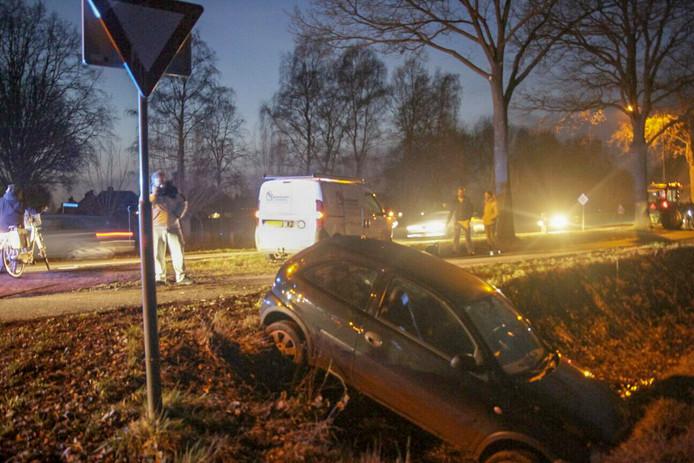 Ongeval op N615 in Lieshout.