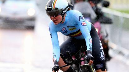 """Ann-Sophie Duyck aangedaan na negende plek op EK tijdrijden: """"Vorig jaar kon ik twee tandjes hoger duwen"""""""