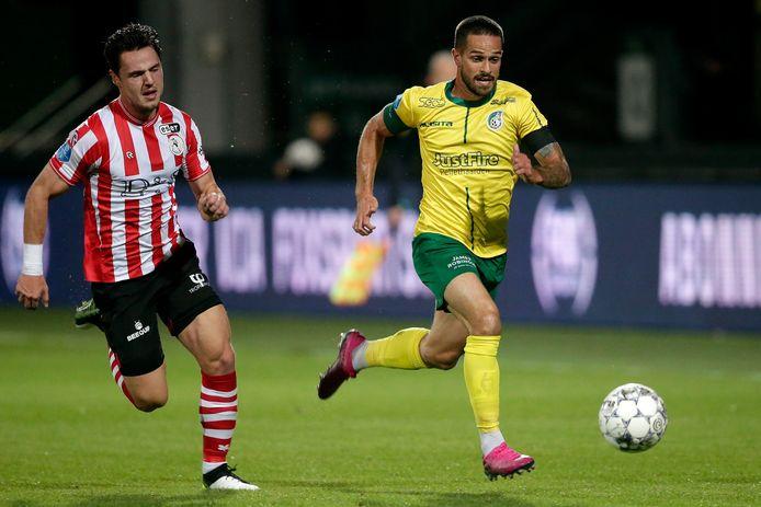 Michael Pinto (rechts) vertrok deze winter naar Sparta Rotterdam.