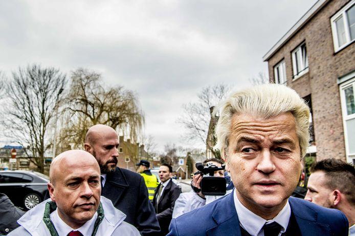 Geert Wilders op campagne.